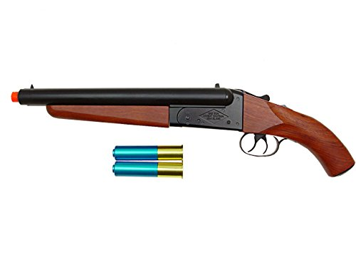 hs model-6801 gas shotgun/wood(s) double barrel(Airsoft -