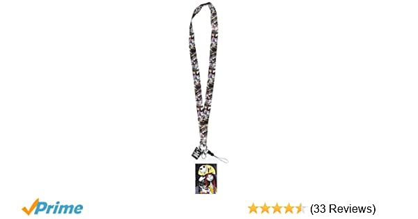 Tim Burton Nightmare Before Christmas Jack And Sally.Disney Tim Burton S The Nightmare Before Christmas Jack Sally Lanyard With Soft Dangle Card Holder