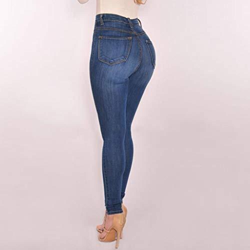 Skinny Jeans Elasticizzato A Blu Slim Aderenti Success Fit Pantalone Vita Denim Alta Stretch Slim Pantaloni pantaloni Polpaccio Donna In Da y6WKWHPZc