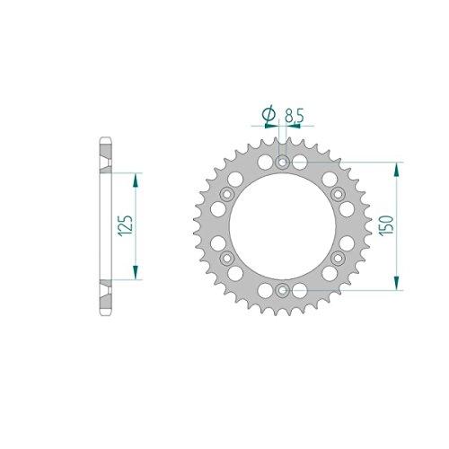 AFAM Kettensatz ALU X-Ring verst/ärkt f/ür KTM EXC 450 2009 Bj