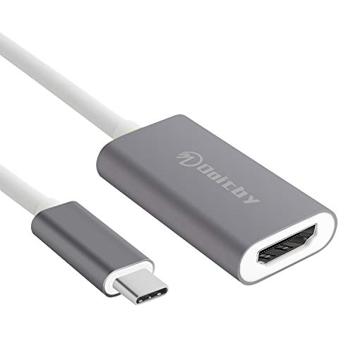 Doitby USB C to HDMI Adapter 4K Type C to HDMI Adapter Compatible with MacBook Pro Laptops, Chromebook, Samsung S8/S9/Note 8/S9+, HP Tablet etc.[Thunderbolt 3 Compatible] - Gray