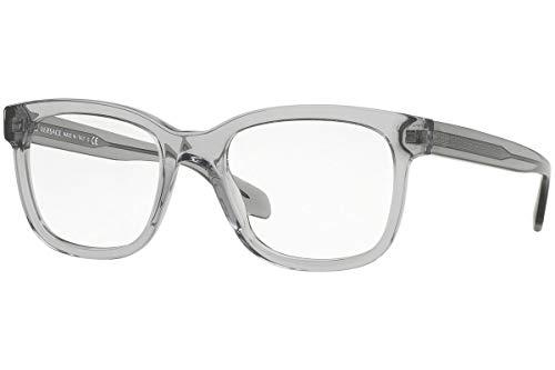 Versace VE3239 Eyeglasses 52-20-145 Transparent Gray w/Clear Lens 593 VE ()
