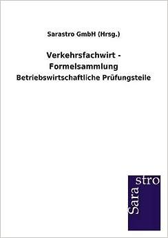 Book Verkehrsfachwirt - Formelsammlung