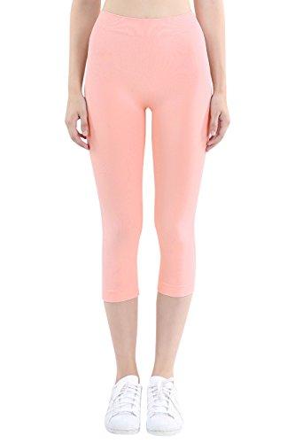 - Nikibiki Womens Seamless Capri Leggings One Size Rose Quartz