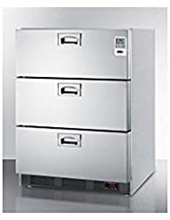 Summit SP6DS7MEDDT Built-in Drawer Refrigerator, Stainless Steel