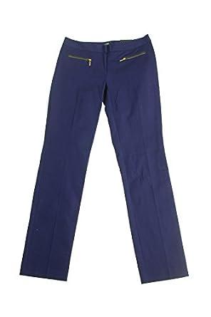 Alfani Jewel Blue Pleather-Trim Slim-Leg Pants 16 at Amazon ...