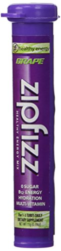 Zipfizz Healthy - Zipfizz Grape Healthy Energy Drink Mix - Transform Your Water Into a Healthy Energy Drink - 30 Grape Tubes