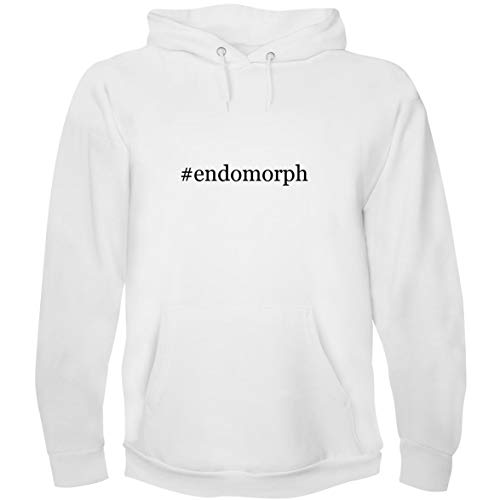 The Town Butler #Endomorph - Men's Hoodie Sweatshirt, White, X-Large