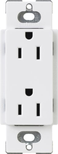 (Lutron CARS-15-TR-WH Claro 15-Amp Tamper Resistant Receptacle, White)