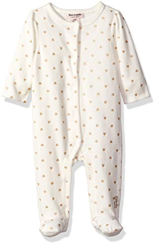 - Juicy Couture Baby Girls Coverall -Fashion, Silent Vanilla/Gold, 6-9 Months