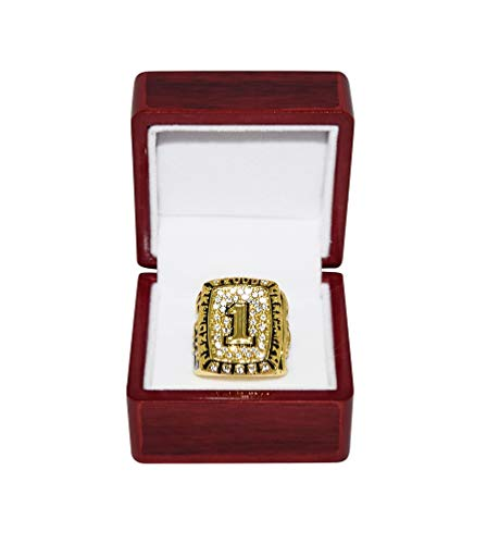 Vs Florida Fsu - UNIVERSITY OF OKLAHOMA SOONERS (Danny Cork) 2000 NATIONAL CHAMPIONS (Playing Vs. Florida State) Rare Collectible Replica Gold Football Championship Ring with Cherrywood Display Box