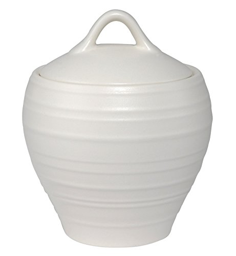 - Mikasa Swirl White Covered Sugar Bowl, White
