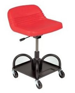 Whiteside Mfg 48005 Adjustable Height Red Heavy Duty Padded Shop Seat