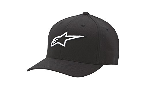 Alpinestars Men's Curved Bill Structured Crown Flex Back 3D Embroidered Logo Flexfit Hat by Alpinestars