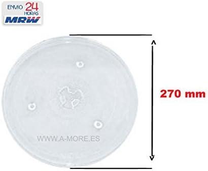Plato Microondas con Diámetro 270 mm para Fagor-Edesa-Bluesky ...