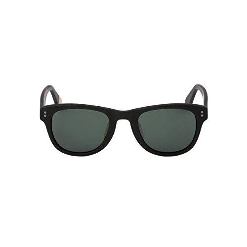 【ステッカープレゼント】【SABRE】セイバー CHEVELLE ユニセックスサングラス メンズ レディース MATTE BLACK/GREEN   B07FBDSPCK
