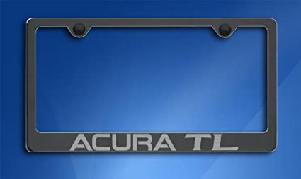 Amazoncom Acura TL License Plate Frame Black Automotive - Acura tl license plate frame