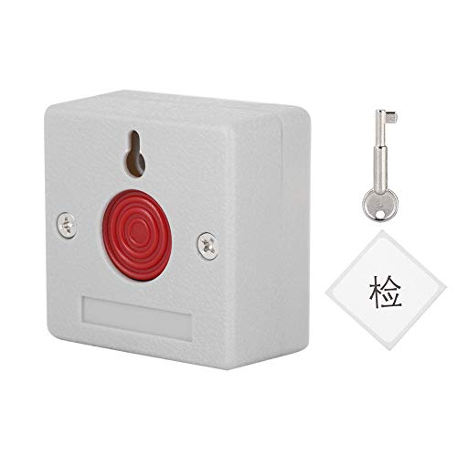 (Alarm Panic Button, Home Safety Patient Alert Alarm System Wireless Alarm Emergency Call Button, Mini Safe Security Emergency Release Button Switch & Key)