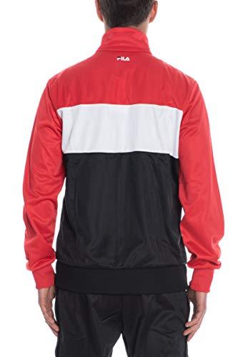 Balin 682386 Fila Pesd Jacket Uomo Track nero Felpa Rosso bianco TXEnEqO