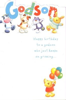 Amazon happy birthday godson birthday greetings card kitchen happy birthday godson birthday greetings card m4hsunfo