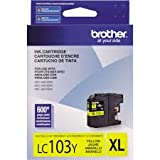 Brother Genuine Brand Name, OEM LC103Y (LC-103Y) High Yield Yellow Inkjet Cartridge (600 YLD) for MFC-J4410DW, MFC-J4510DW, MFC-J4610DW, MFC-J4710DW  Printers