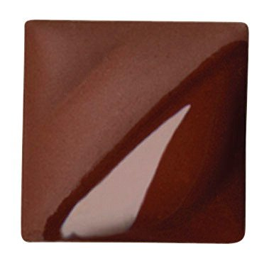 AMACO Velvet Lead-Free Non-Toxic Semi-Translucent Underglaze, 1 pt Jar, Red Brown V-313 (Red Velvet Underglaze)