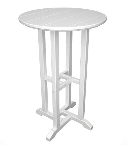 Adirondack Counter Chair (Traditional 24 inches Round Recycled Plastic Counter Height Table)