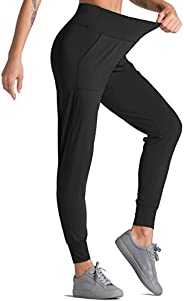 Dragon Fit Joggers for Women Athletic Sweatpants with Pockets High Waist Workout Yoga Tapered Lounge Pants