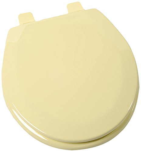 Comfort Seats C3B4R250 Deluxe Molded Wood Round Closed Front with Cover (Yellow Toilet Seat Cover compare prices)