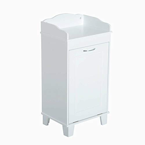 (Heavens Tvcz Clothes Hamper Cabinet Laundry Basket Storage Tilt Out Bathroom Wooden Organizer Closet Home Furniture for bathrooms, Laundry Rooms, or playrooms.)