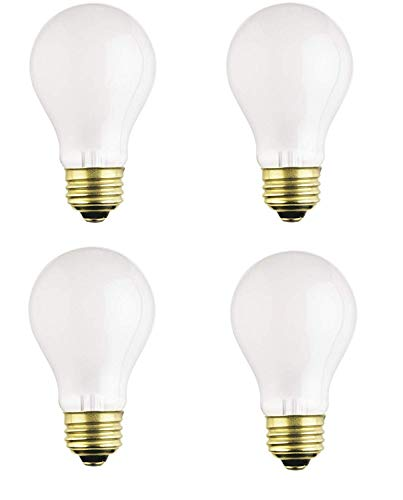 - Dysmio Lighting 100 Watt A19 Rough Service Incandescent Light Bulb Pack of 4