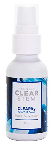 CLEARity by CLEARstem - Exfoliating Serum with AHA and Mandelic Acid, Anti-Aging, Retexturizes, Reduce Scars, Anti-Acne, Blackhead Dissolving & No Secret Pore Cloggers - Made in the USA - .5 fl oz.