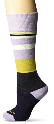 Icebreaker Merino Women's Lifestyle Medium Over The Calf Socks, Silk Heather/Burgundy Heather/Sulfur, Small by Icebreaker Merino (Image #1)