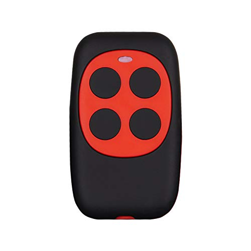 XIHADA Universal Garage Door Remote Garage Remote Gate Opener Remote Universal Gate Remote Control Homelink Remote Programmable Learning Garage Door Remote Multi Frequency 280MHZ-868MHZ (1 PC, Red) ()