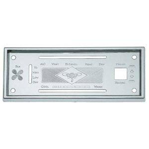 Heater Control Bezel - Kenworth S.S. A/C Heater Control Plate Bezel & Screws