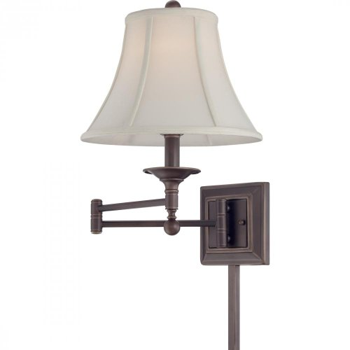 Quoizel Q1560PN Quoizel Portable Lamp Baker with Palladian Bronze Finish Swing Arm Wall Lamp With 1 Light