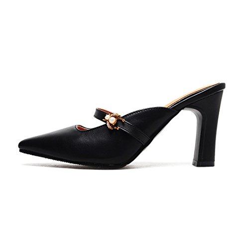 black sandali retro sandali 33 sandali e baotou wavSxHngqX