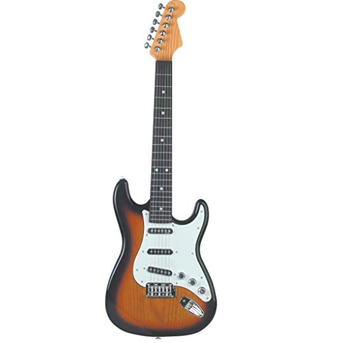Lightahead Electronic Guitar with Vibrant Sounds, 26 inch Guitar With Preset Music Fun Junior Guitar with Microphone for Kids & beginners Great Gift (Brown)
