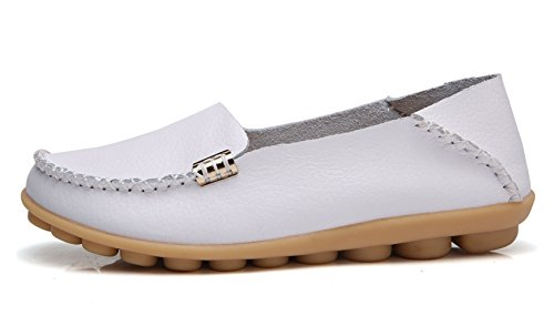 Natural Walking Comfort Loafer Women's VenusCelia White Flat Tq5xzwUnHp
