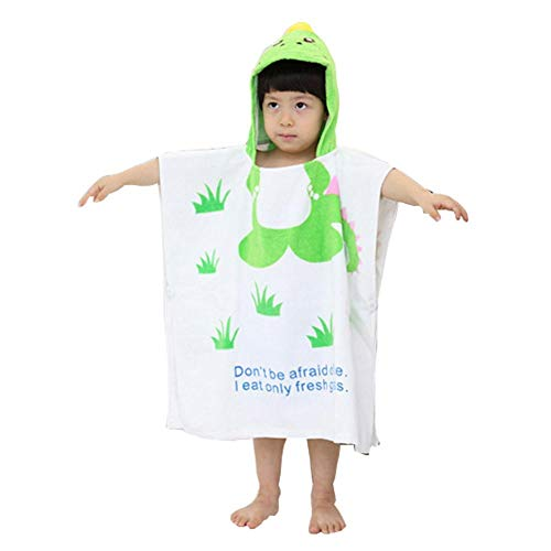 Childrens Cute and Fashion Style Hooded Bath Towel Bathrobes Dinosaur - Childrens Cute and Fashion Style Hooded Bath Towel Bathrobes Dinosaur -