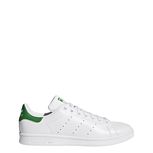 adidas Originals Men's Stan Smith Leather Sneaker, White Green, 13