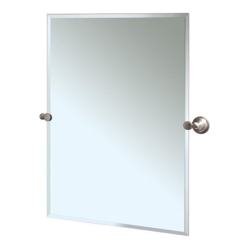 Gatco 4339S Tiara Rectangular Wall Mirror, Satin Nickel