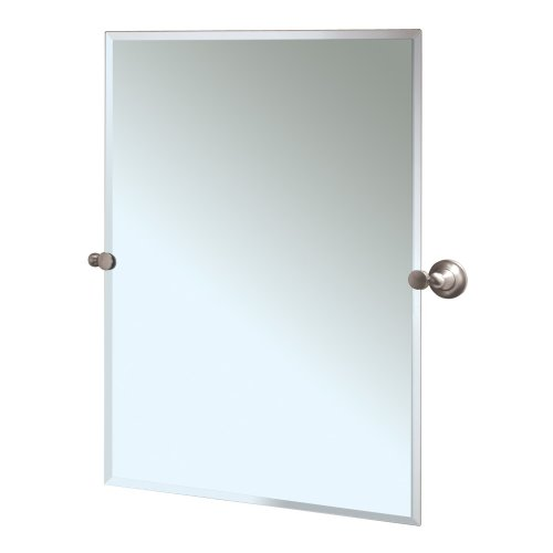 (Gatco 4339S Tiara Rectangular Wall Mirror, Satin Nickel)