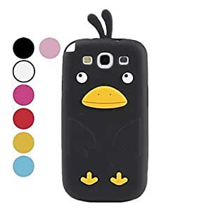 GJY Cute Cartoon Chicken Silicone Case for Samsung Galaxy S3 I9300 (Assorted Colors) , Blue