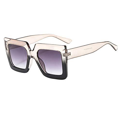 - MaxFox Women Men Vintage Retro Big Frame Sunglasses Unisex Polarized Mirrors Ultraviolet UV Protection Shades Eyewear for Outdoor Cycling (C)