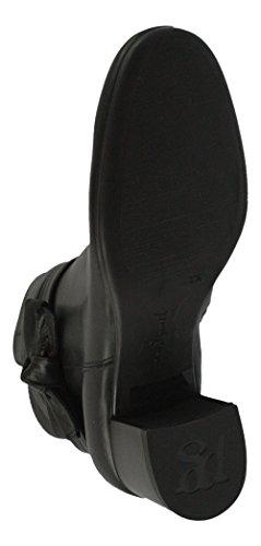 Paul Green 8094-041 Damen Stiefelette Aus Leder Elegante Laufsohle mit Absatz Schwarz