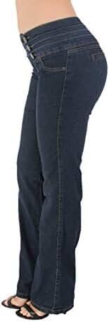 Style 3027 - Colombian Design Butt lift, Levanta Cola, Boot Leg Jeans