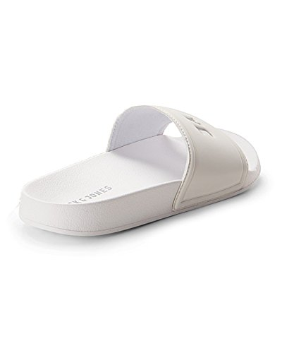JACK & JONES Herren Jfwlarry Pool Slider Bright White Geschlossene Sandalen Weiß (Bright White Bright White)