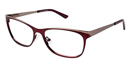 Ann Taylor AT101 Eyeglass Frames - Frame Burgundy / Light Brown, Size 53/15mm - Ann Taylor Light