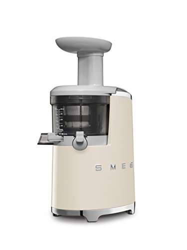 Smeg SJF01CREU 150W 50's Retro Style Aesthetic Slow Juicer, Cream